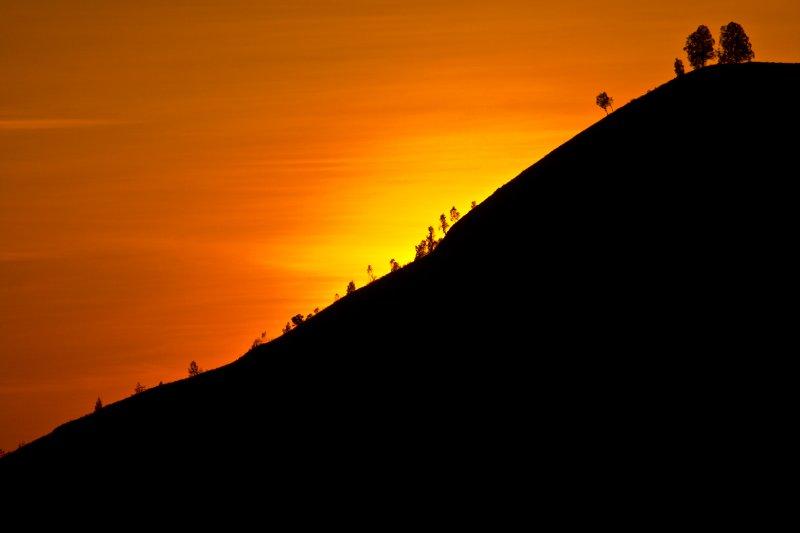 Sunrise volcano