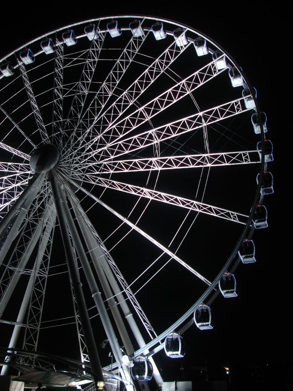 Wheel at night