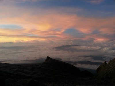 Sunrise at Kinabalu Mountain