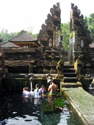 In the temples at Bali