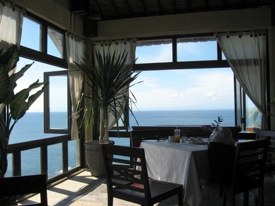 In a restaurant at Blue Point Villa 2