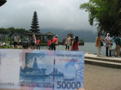 Bedugul Temple...same as the money note