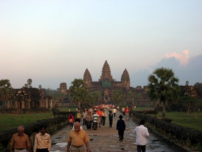 the majestic Angkor Wat