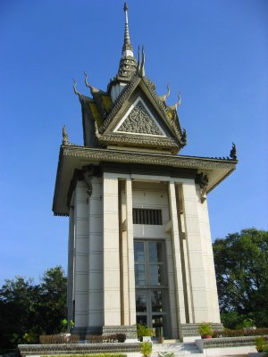 Stupa that stored all the skulls of those executed during the Khmer Rouge