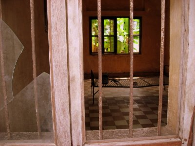 Torture room at Tuol Sleng Museum