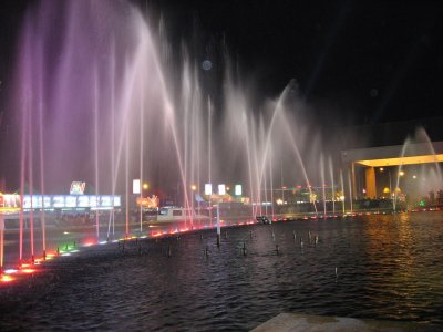 fountain in front of Nagaworld Casino
