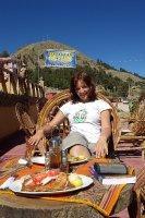 Pstruh na brehu jezera Titicaca