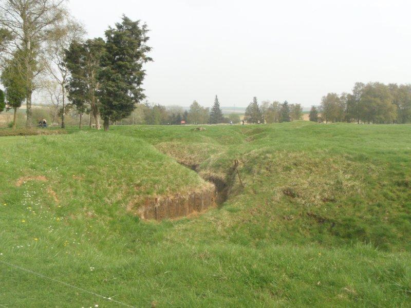 World War I trench Canadian Memorial Vimy Ridge