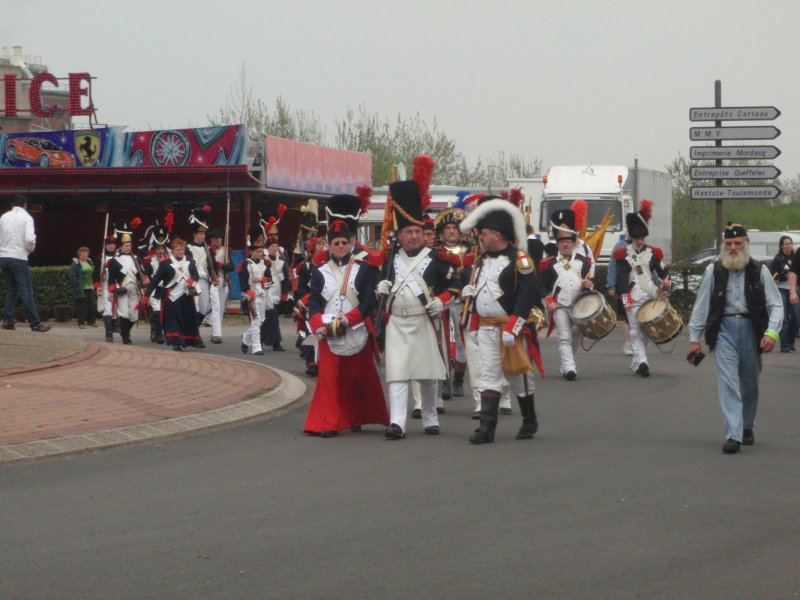 A village band on parade