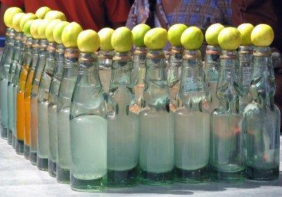 juice seller's stall
