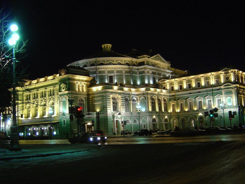 Some famous ballet place in St Petersburg