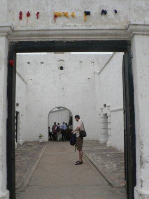 The entrance to Cape Coast Castle