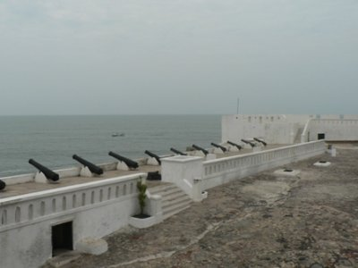 The main buttresses and defence cannons for Cape Coast Castle