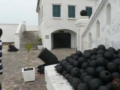 The entrance to the mens dungeon, Cape Coast Castle