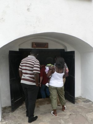 Entrance to the mens dungeon, Cape Coast Castle