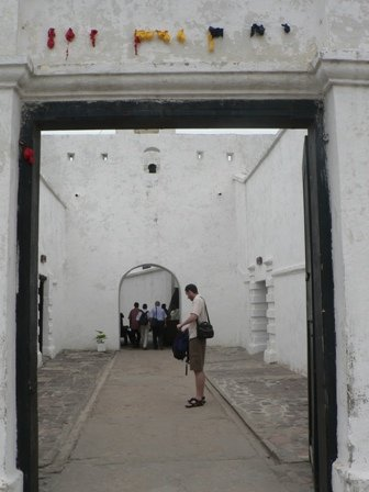 The entrance to Cape Coast Castle