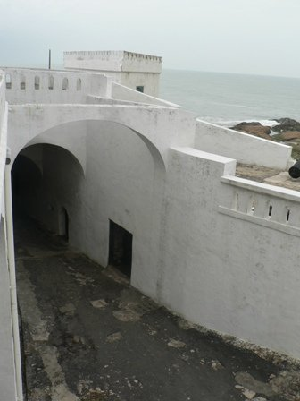 Cape Coast Castle--the corridor to the slave ships in the harbour