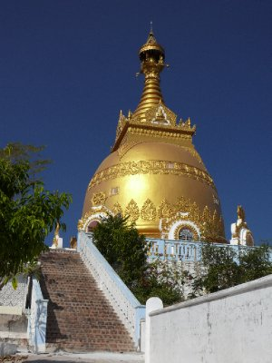 Mandalay Myanmar Map. Pagoda in Sagain, Myanmar