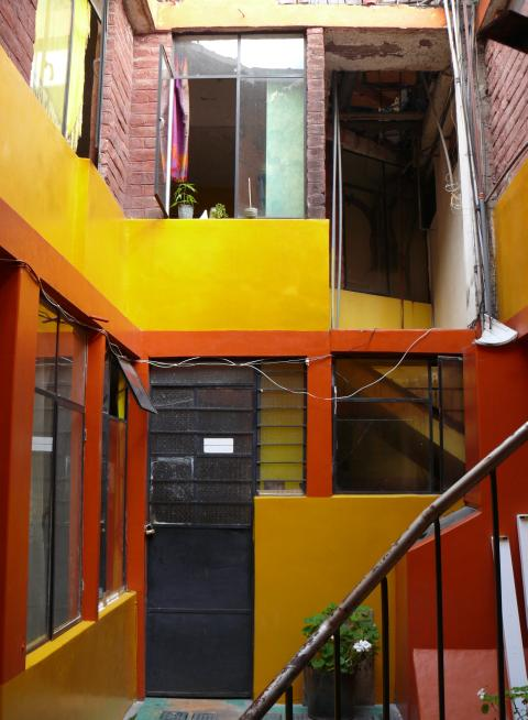 Quito apartment backyard
