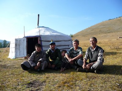 Local horse guides in Ulhun area from Bonda Lake Camp Khovsgol National Park Mongolia