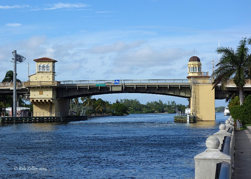Hollywood Bridge over Intercoastal waterway.