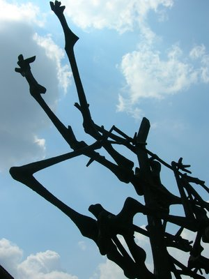 A section of a memorial for the Dachau Concentration Camp survivors