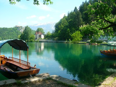 Boat rides on Lake Bled