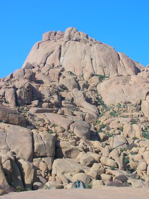 Camping at Spitzkoppe on the rocks