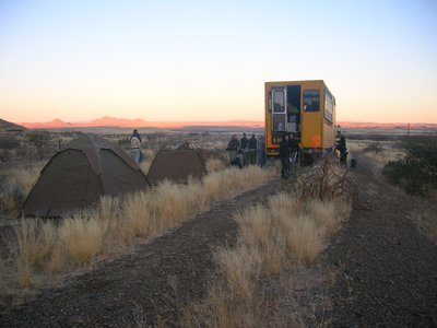 The morning of our last bush camp
