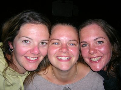 Allie, Rachel and myself = rosy cheeks from the wine!