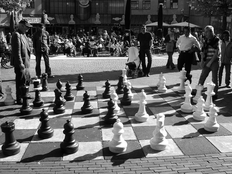 Playing chess in Amsterdam