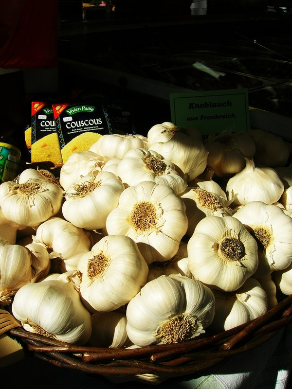 Garlic in a German market