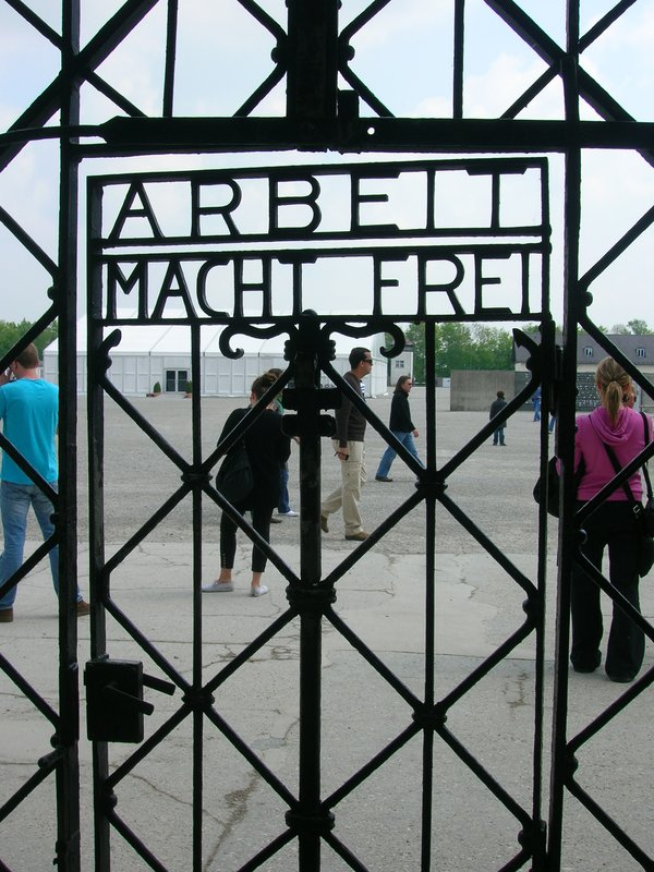 """Work sets you free"" Dachau Concentration camp"