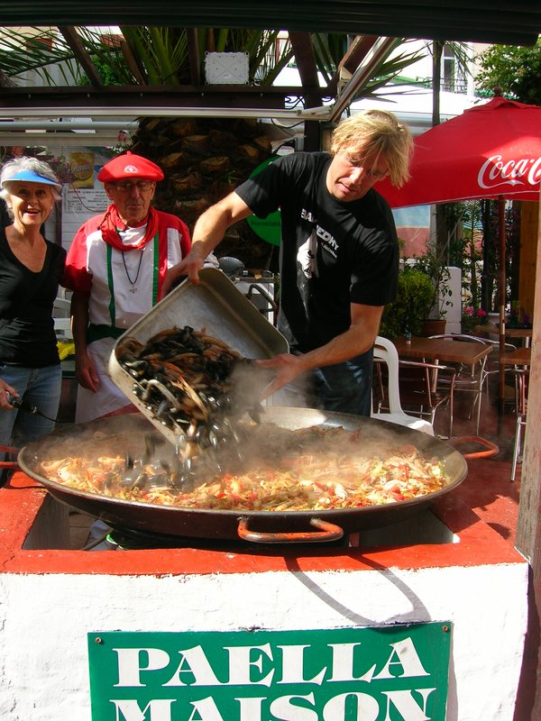 Paella in southern France