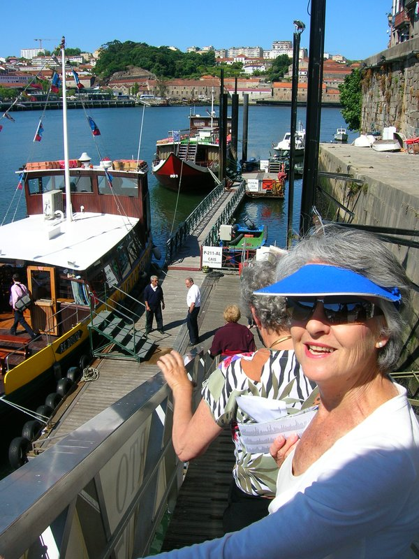 Heading for the boat cruise (Douro River)