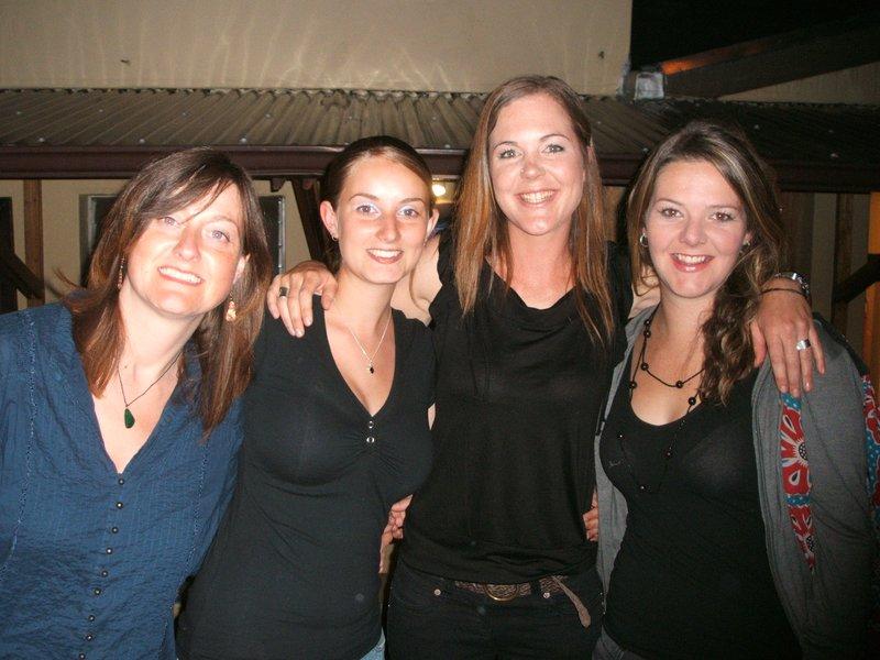 Liz, Ems, me and Allie