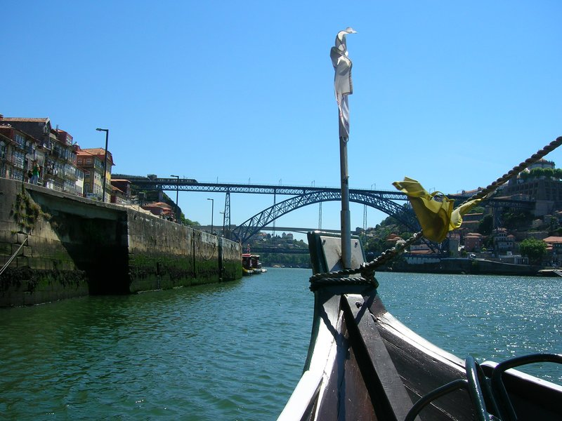 On a boat cruise on Douro River