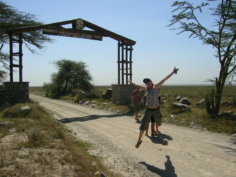 Excited about entering the famous Serengeti!!