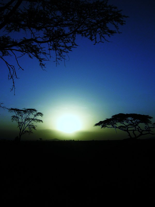 Sunset in Serengetti National Park