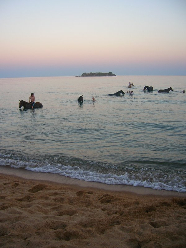 Horse riding at dusk (Kande Beach, Malawi)