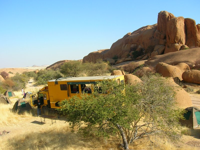 Camping at Spitzkoppe, in the bush and amongst the rocks
