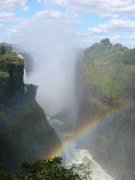 Rainbow over Victoria Falls (Zimbabwean side)