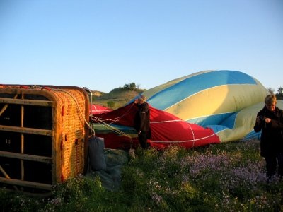 Balloon flight: building anticipation as the sun rises