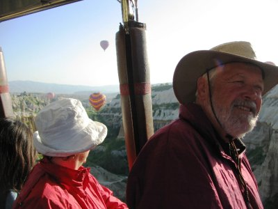 Balloon flight: Sally and David