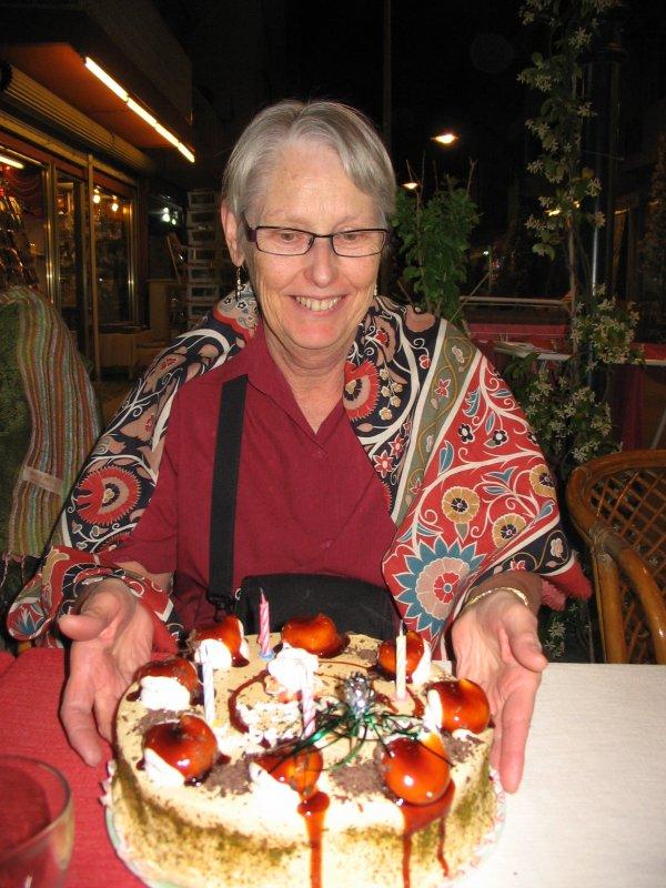 Pam's birthday surprise in Selcuk