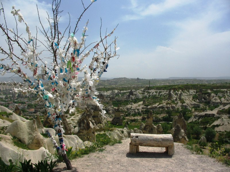 Prayer tree looking out over Capadoccia