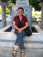 Me in front of a fountain in Selcuk
