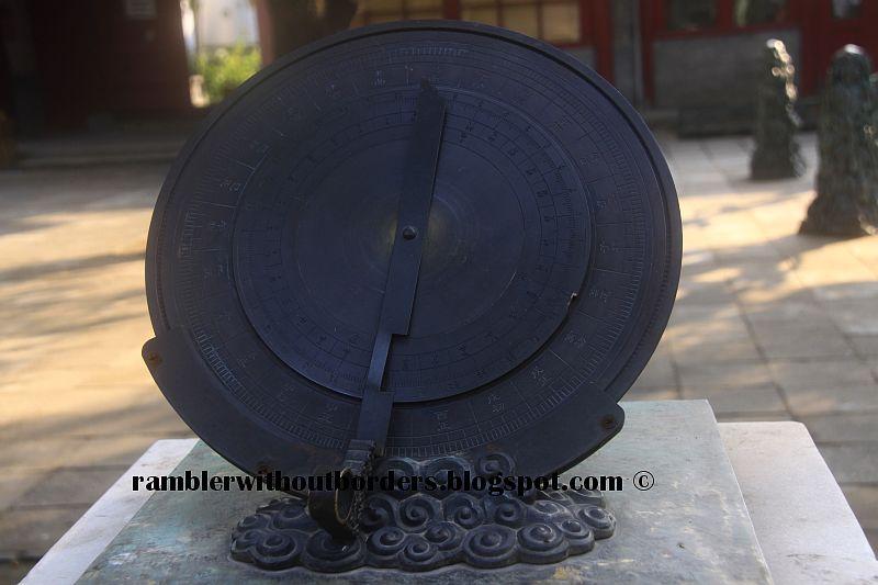 Moondial in Beijing Observatory