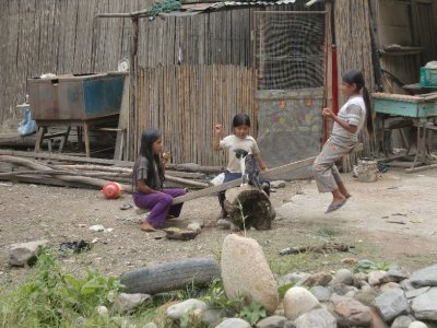 Locals kids playing