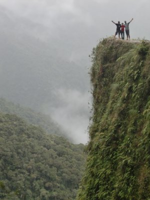 Worlds most dangerous road - can you see why?
